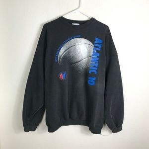 Mens 2XL Atlantic 10 1995 VTG Basketball Sweater